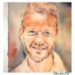 Charles CH (O1) / Watercolour 18x20cm