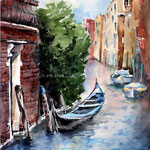 Venice II / Watercolour 21x31cm  Arches HP © janinaB. 2016 photographer: ©Eve Mazur
