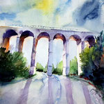 Highway bridge / Watercolour sketch 27x35cm Fabriano Studio © janinaB. 2016