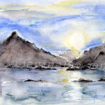 Zauber des Nordens (O6) / Watercolour 17x24cm  ©janinaB.