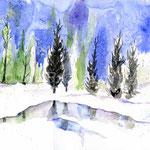 Tauwetter-(11) / Watercolour 24x34cm © janinaB.