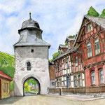 Stolberg Harz II (2) / Watercolour 30x40cm ©janinaB.