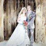 Hochzeit / Aquarell / Auftragsarbeit