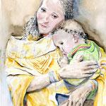 Liebe und Sorge (13) / Watercolour 30x40cm