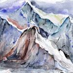 Berge (O6) / Watercolour 18x25cm © janinaB.