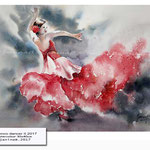 flamenco dancer II 2017 (19) Watercolour 30x40cm © janinaB. 2017