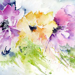Flowers VIII 2010 (O1) / Watercolour 18x25cm / insp. Veronique Piaser-Moyen  © janinaB.