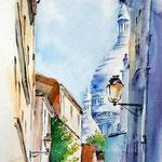 Sacre Coeur II (12) / Aquarell 23x30,50 cm auf Fabriano © janinaB. 2016