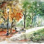 Landscape VI 2009 (6) / Watercolour 30x40cm  ©janinaB. insp. Afremov