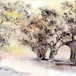 Landscape XI 2011 (O2) / Watercolour 18x25cm  ©janinaB.