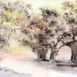 Landscape XI 2011 (O6) / Watercolour 18x25cm  ©janinaB.