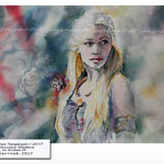 Daenerys Targaryen I 2017 (13) / Watercolour 30x40cm on Arches CP © janinaB. 2017