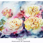 Roses IV 2018 (20) / 30x40cm Watercolour by ©janinaB.