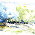 Olivenhain I 2009 (O6) / Watercolour 18x24cm © janinaB.