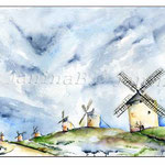Don Quijotes Traum (6) / Watercolour 30x40cm  ©janinaB.