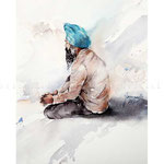 Amritsar, India (O5) / Watercolour 20x30cm ©janinaB.2017 Photo source: Leonid Plotkin