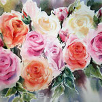 Roses (15) / Watercolour 30x40cm