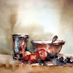 Im Stil der alten Meister (25) / Watercolour 30x40cm