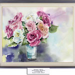 Roses I 2017 / Watercolour 30x40cm on Arches CP © janinaB. 2017