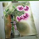 Rosen Raubritter (18) / Watercolour 23x30cm