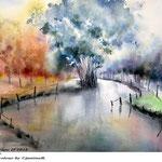 Landscape II 2018 / (22) / 30x40cm Watercolour by ©janinaB.