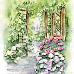Garden I 2009 (2) / Watercolour 30x40cm  ©janinaB.