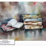 Old Books (7) / Watercolour 30x40cm on Arches CP © janinaB. 2017