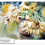 Sunflowers III 2017 / Watercolour 30x40cm on Arches CP © janinaB. 2017