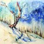 Landscape VIII 2011 (12) / Watercolour 30x40cm  ©janinaB.