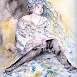 Mädchen (7) / Watercolour 24x32cm