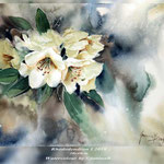 Rhododendron I 2018 (21) / 30x40cm Watercolour by ©janinaB.