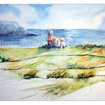 Eine kleine Kirche in Irlands Antrim Coast (2) / Watercolour 30x40cm