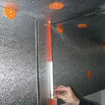 Kellerdeckendämmung an den Außenwänden heruntergeführt.