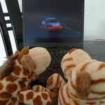 First we was watching motor sport on tv...