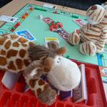 ... spielten wir heute Monopoly. Ich hab Tiger abgezockt!