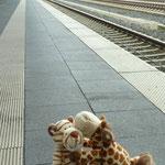 Wir verabschiedeten uns schon auf dem Bahnhof.