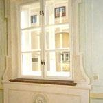 Trompe l'oeil window-framing