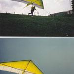 Start und Flug mit dem ersten moderneren Hängegleiter 1989