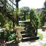 Stiegenaufgang aus unserem Garten zum Balkon