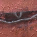 Chant de la Terre n°60 / Latitude 49,69° Longitude - 0,32°/ Cognac  / France /  08.08.2010 / Peinture sur Médium 70x90