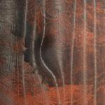 Chant de la Terre n°136 / Latitude 50,51° Longitude 1,58° / Le Touquet / France / 28.10.2017/ Peinture sur Toile 50x50