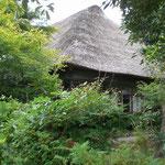 茅葺屋根の建物