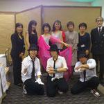 右後方より矢郷事務局長、近藤、北山、左後方伊藤とトライアングル・BB3のみなさん