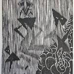 woodcut, 25x28