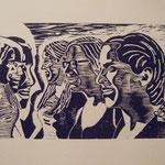 sisters woodcut 21x30