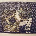 Rauchende Grille Hommage an Ludwig Heinrich Jungnickel