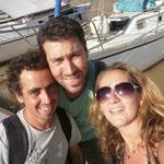 Ya somo tres!! Silvina a bordo por primera vez en Puerto Madero.