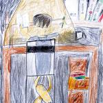 「自習時間の後ろ姿」 リ・セジン 西東京朝鮮第二幼初級学校