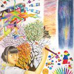 「色彩の美しさ」 キム ミョンシル 東京朝鮮第五初中級学校
