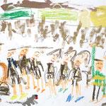 「満員電車で仕事に行くお父さん」 キム・チソン 横浜朝鮮初級学校